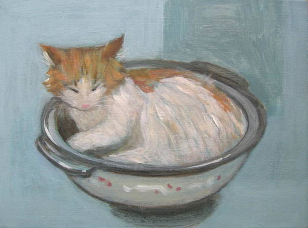 Painting - Cat In Casserole  by Kazumi Whitemoon