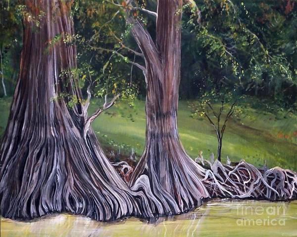 Painting - Cat Island Cypress Louisiana by Lizi Beard-Ward