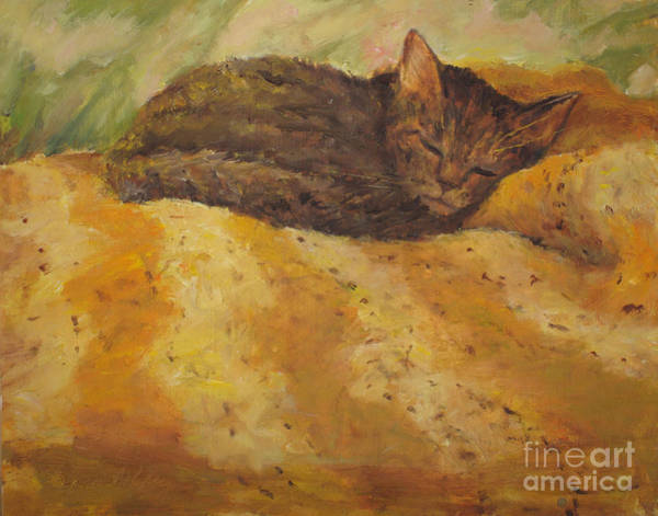Painting - Cat Nap by Joan Coffey