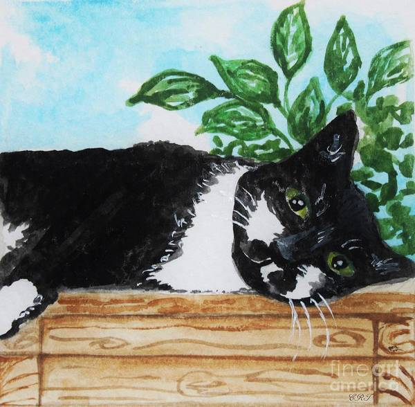Painting - Cat Out On The Deck by Elizabeth Robinette Tyndall