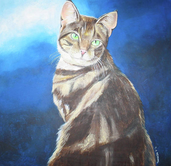 Painting - Cat Profile by Thomas J Herring