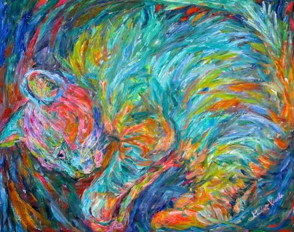 Painting - Cat Swirl by Kendall Kessler