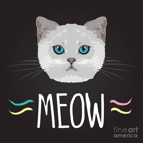 Beautiful Cats Wall Art - Digital Art - Cat Typography, T-shirt Graphics by Patterntrends