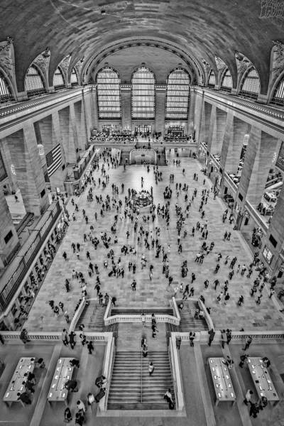 Photograph - Cat Walk At Grand Central Terminal Bw by Susan Candelario