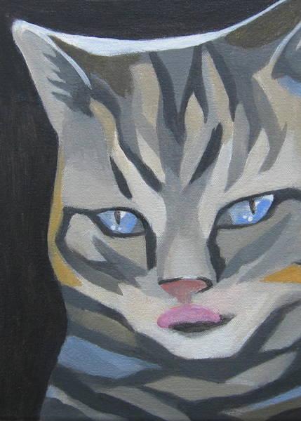 Cat With Tongue  Art Print
