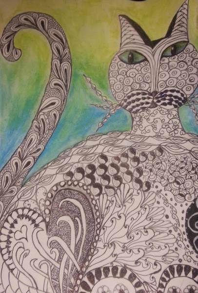 Painting - Cat Zen by Kelly Dallas