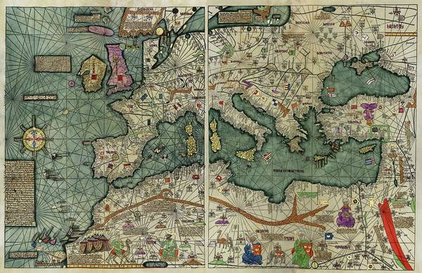 Aragon Photograph - Catalan Atlas by Library Of Congress/science Photo Library