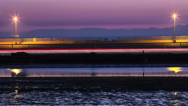Catalina Bolsa Chica Pch Light Trails And The Wetlands By Denise Dube Art Print
