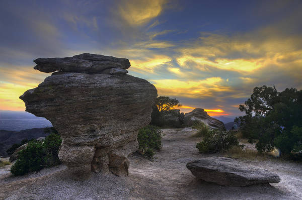 Photograph - Catalina Mountains Sunset Near Tucson Arizona by Dave Dilli