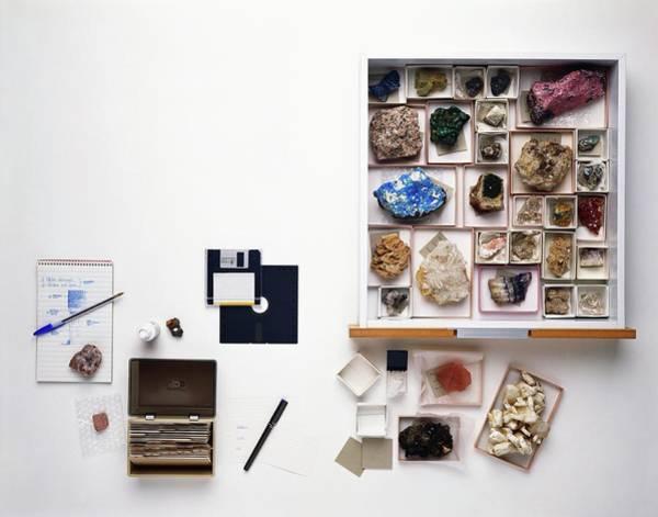 Index Photograph - Cataloguing Mineral Specimens by Dorling Kindersley/uig