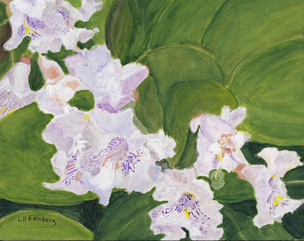 Painting - Catalpa Blossoms On Webster Street by Linda Feinberg