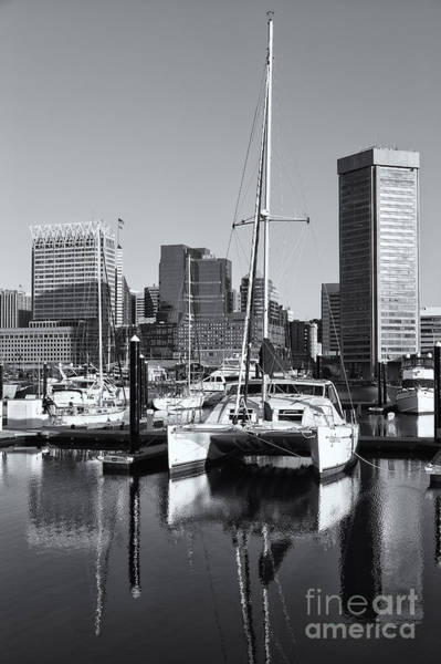 Photograph - Catamaran In Baltimore Inner Harbor II by Clarence Holmes