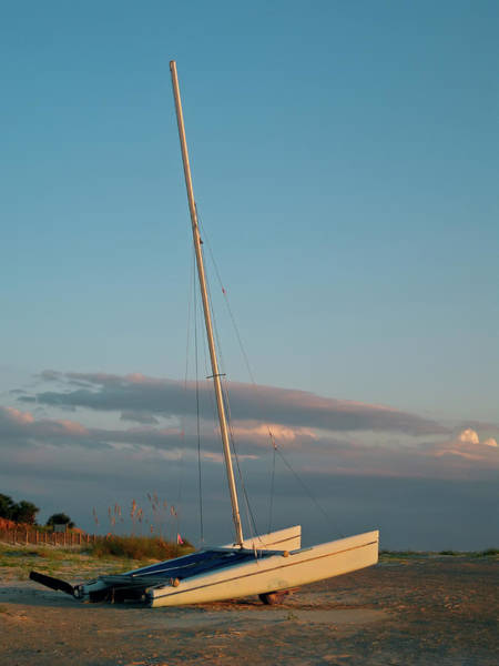 Tybee Island Photograph - Catamaran On Beach by Joseph Shields