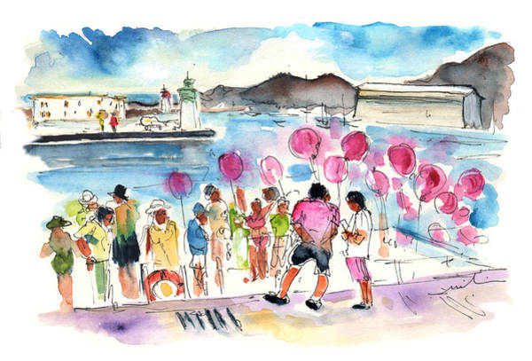 Murcia Painting - Catamaran Party In Cartagena by Miki De Goodaboom