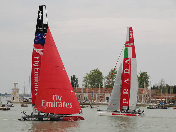 Ac45 Photograph - Catamarans In S.marco by Lorenzo Tonello