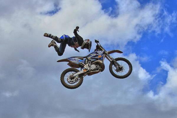 Dirt Bike Photograph - Catch Me If You Can by Reid Callaway
