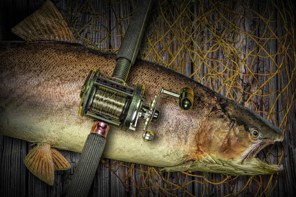 Chinook Salmon Photograph - Catch Of The Day by Randall Nyhof