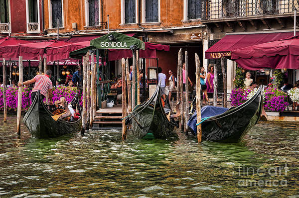 Lion Of St Mark Photograph - Catch The Gondola by Brenda Kean