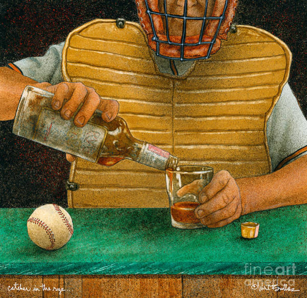 Wall Art - Painting - Catcher In The Rye...  by Will Bullas