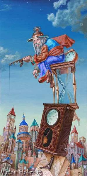 Painting - Catcher Of Time by Victor Molev