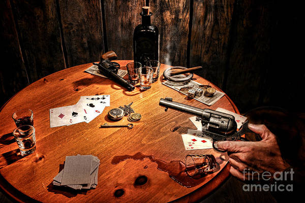 Gunfight Wall Art - Photograph - Catching A Cheater by Olivier Le Queinec