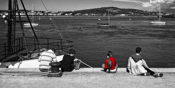 Photograph - Catching Crabs In Red by Meirion Matthias