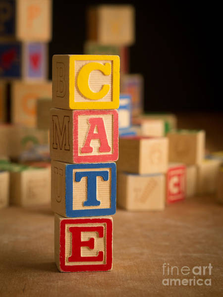 Baby Name Wall Art - Photograph - Cate - Alphabet Blocks by Edward Fielding