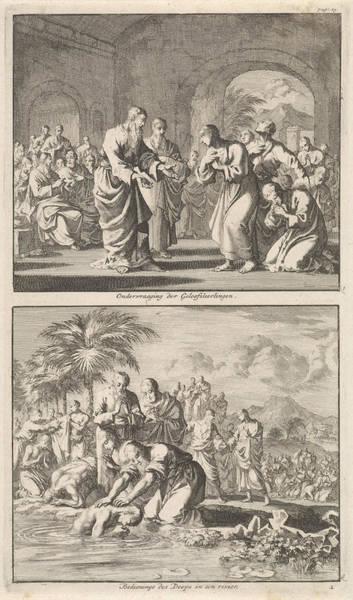 Healing Drawing - Catechesis Of Five Believers And The Baptism Of New by Jan Luyken And Jacobus Van Hardenberg And Jacobus Van Nieuweveen