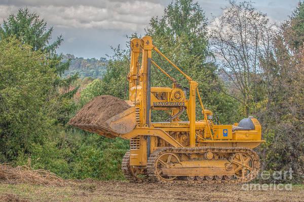 Dozer Photograph - Caterpillar Traxcavator Diesel D2 by Randy Steele