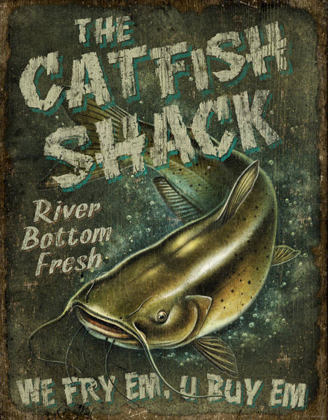 Painting - Catfish Shack by JQ Licensing