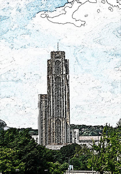 Photograph - Cathederal Of Learning Artistic Brush by G L Sarti