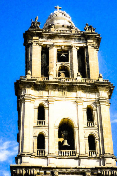 Photograph - Cathedral Bell Tower - Mexico City Architecture by Mark E Tisdale