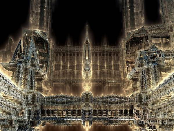 Cathedral By Night Art Print by Bernard MICHEL