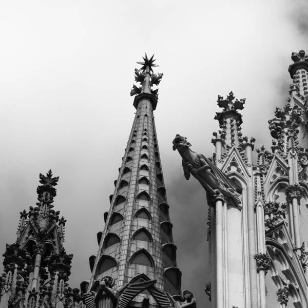 Germania Photograph - Cathedral Gargoyle 06 by Teresa Mucha