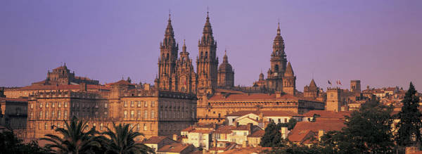 Galicia Photograph - Cathedral In A Cityscape, Santiago De by Panoramic Images
