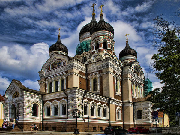 City Of David Photograph - Cathedral In Tallinn by David Smith
