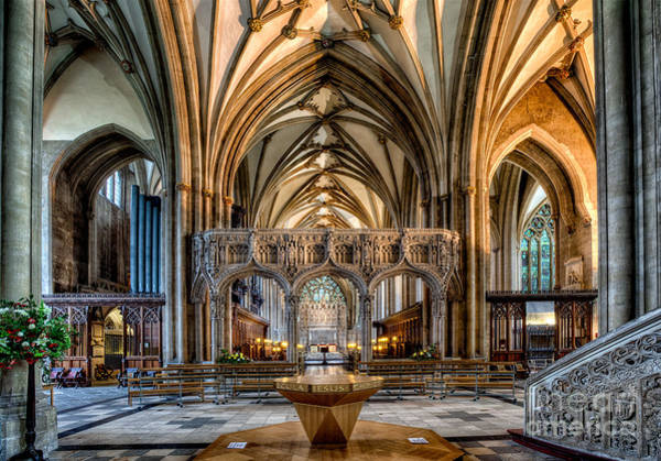 Gothic Arch Photograph - Cathedral Interior by Adrian Evans