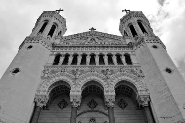 Photograph - Cathedral - Lyon  by Allen Sheffield