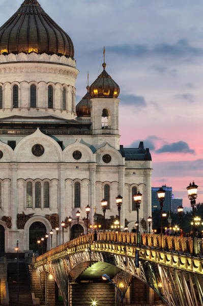 Cathedral Of Christ The Savior Photograph - Cathedral Of Christ The Redeemer At Dusk by Martin Child