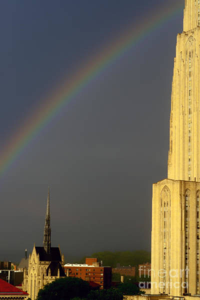 Photograph - Cathedral Of Learning Rainbow by Thomas R Fletcher