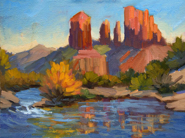 Sedona Arizona Wall Art - Painting - Cathedral Rock 2 by Diane McClary