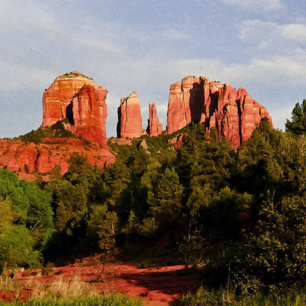 Painting - Cathedral Rock by Bob and Nadine Johnston
