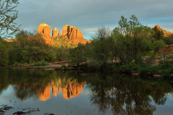 High Dynamic Range Imaging Photograph - Cathedral Rock Oak Creek Sunset by Picturelake