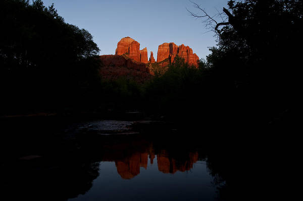 Photograph - Cathedral Rock Reflection 6 by Lee Kirchhevel