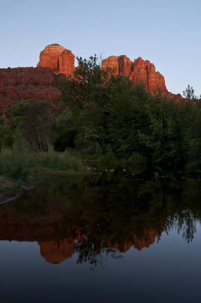 Photograph - Cathedral Rock Sunset Reflection 2 by Lee Kirchhevel