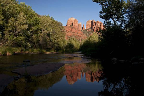 Photograph - Cathedral Rock Sunset Reflection 3 by Lee Kirchhevel