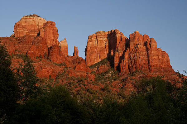 Photograph - Cathedral Rocks Sunset 1 by Lee Kirchhevel