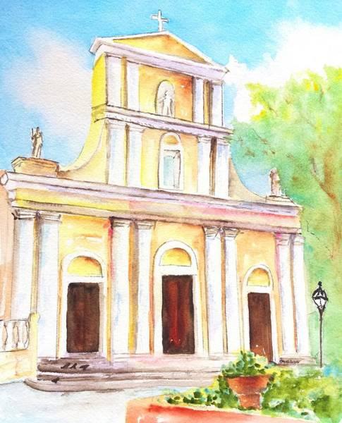 Painting - Cathedral San Juan Puerto Rico by Carlin Blahnik CarlinArtWatercolor