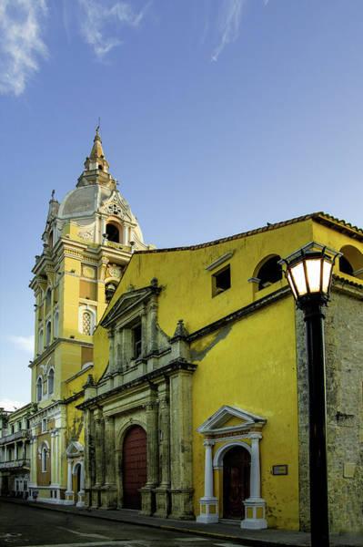 Colombian Wall Art - Photograph - Cathedral Santa Catalina De La by Jerry Ginsberg