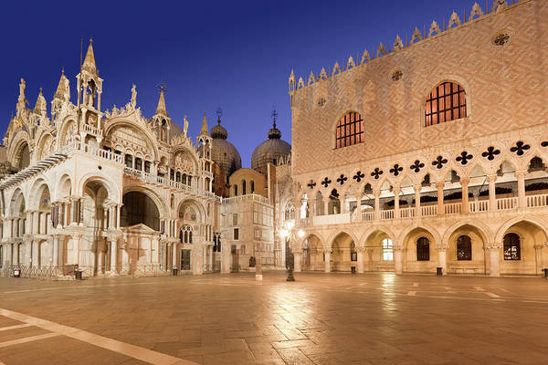St Mark's Basilica Photograph - Cathedral St Marks Square Doges Palace by Grafissimo